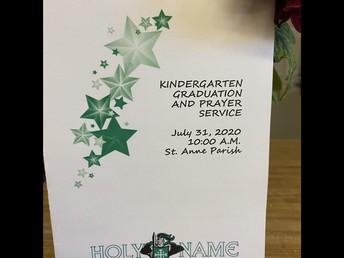 Kindergarten graduation prayer service