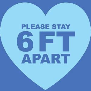 Stay 6 feet apart!