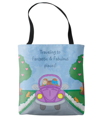 Milo Purple Bug Car Mother's Day Tote Bag