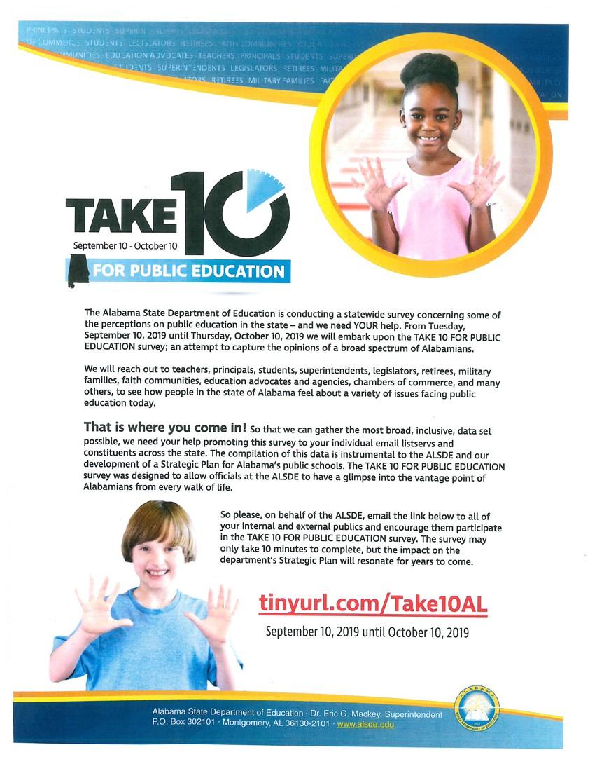 Take 10 for Public Education - Community Survey