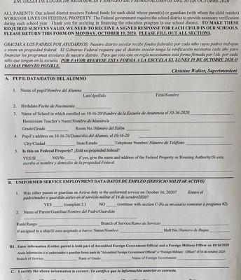 Formularios Federales REQUERIDOS