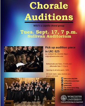 Auditions for Chorale and Romeo and Juliet