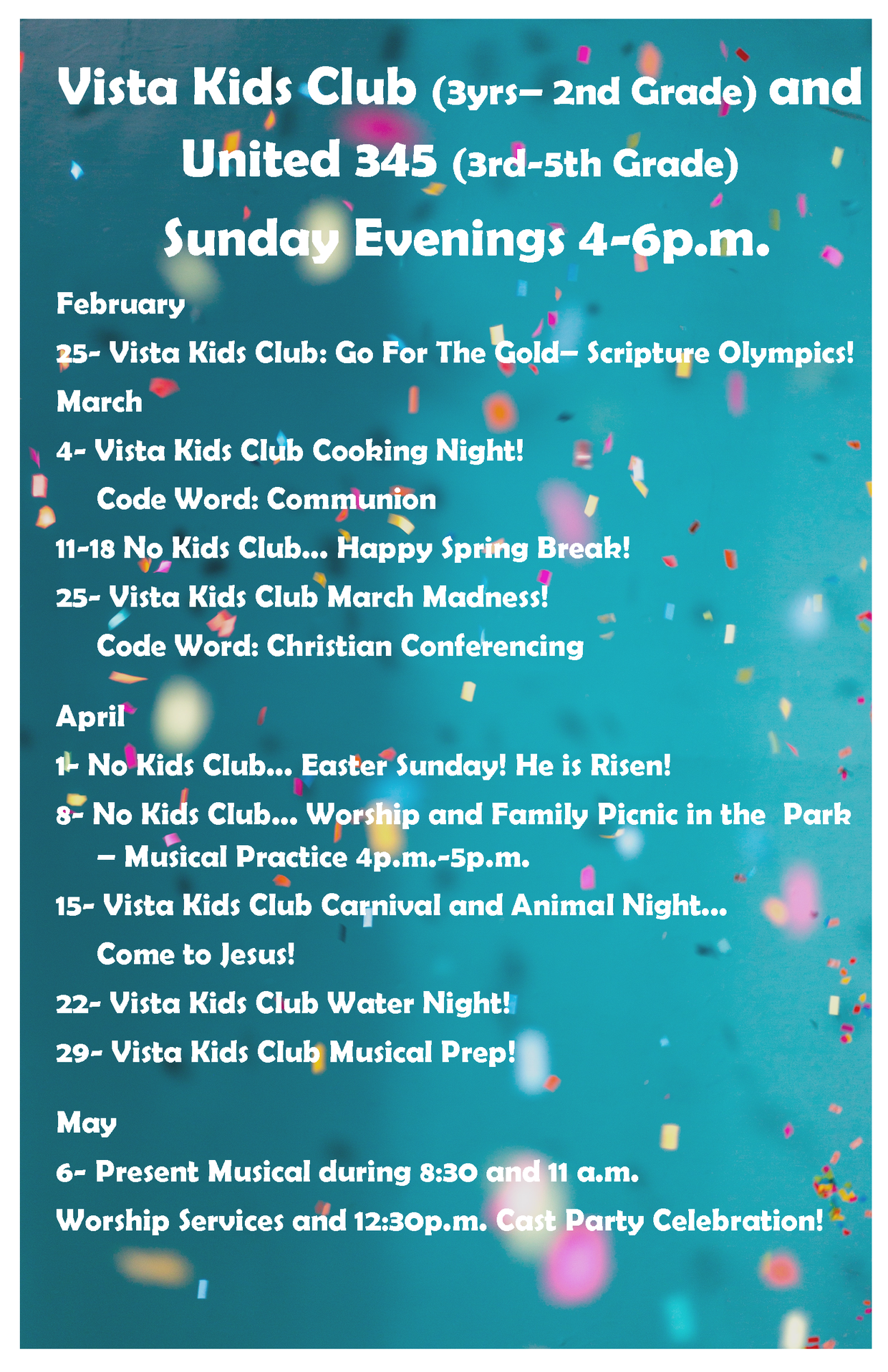 Vista Kids Happenings | Smore Newsletters for Business