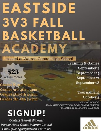 WC Youth Basketball 3v3 Fall Academy