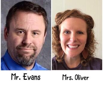 Mr. Evans - Mrs. Oliver