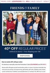 Lands End HUGE 40% off SALE!!!!