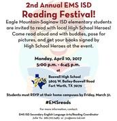 EMS ISD Reading Festival, April 10