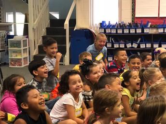 First graders enjoying a Read Aloud!