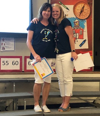 Mrs. Hillard and Mrs. Allen won BEST awards!