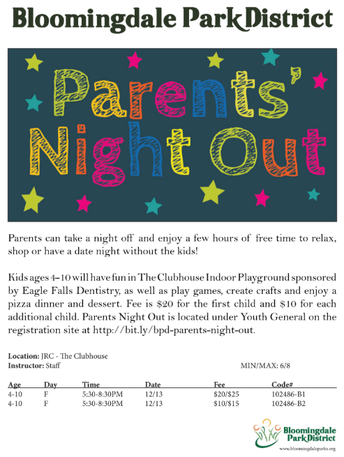 Parents, Need an Evening Out?