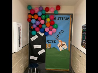 Check out Ms. Klein's Autism Awareness Door Decoration!