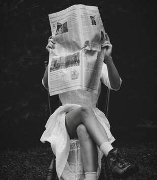 """""""Newsboy"""" photo by Anne Cisznak"""