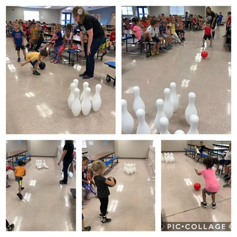 Bowling fun for Push and Pull lesson