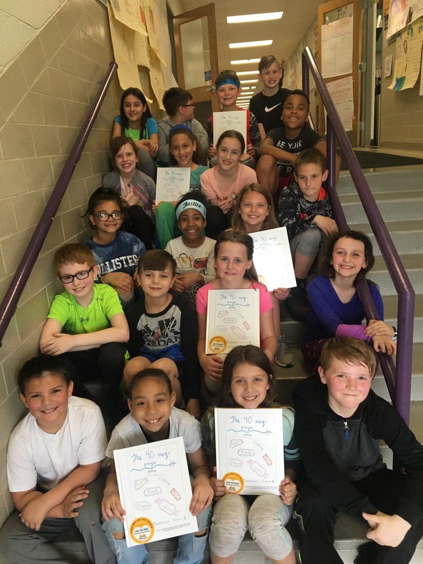 Mrs. Marshall's class published a poetry book this quarter. Each student showcased two pages of their self created poetry!