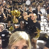 Wildcat Band supporting the team