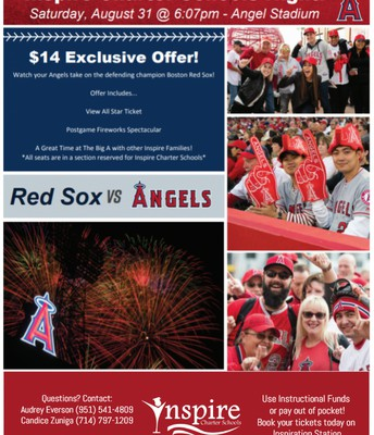 BOSTON RED SOX AT ANAHEIM ANGELS BASEBALL GAME