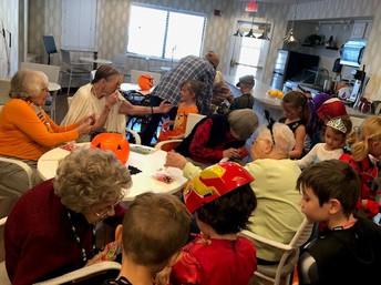 1st Graders Visit Spring Wood Assisted Living