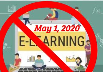 No eLearning on Friday, May 1