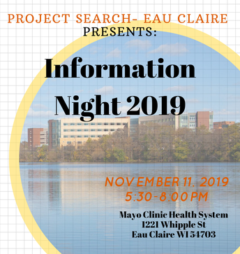 Project Search - Eau Claire Information Night 2019