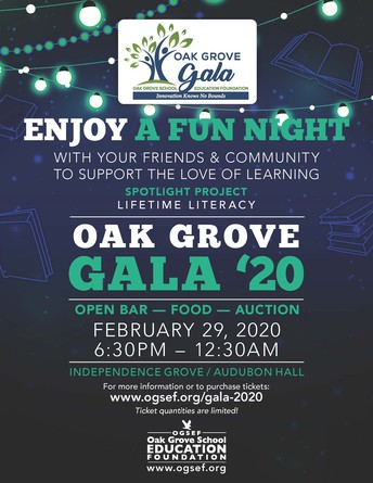 Grove Gala 2020 – Tickets & Sponsorships Now on Sale