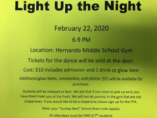 6th and 7th Grade Dance February 22nd