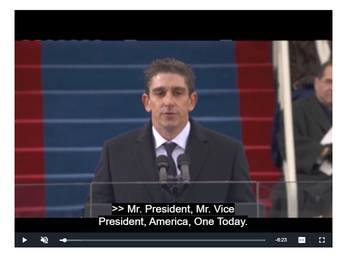 """""""One Day: A Poem for Barack Obama's Presidential Inauguration, January 21, 2013   by Richard Blanco"""