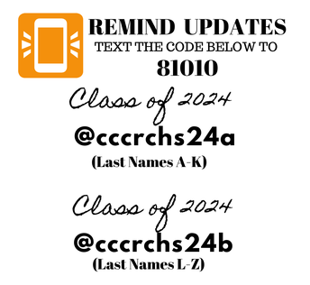 New Remind for Class of 2024!