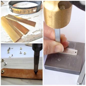 Leather & Metal Cuff Bracelet Class