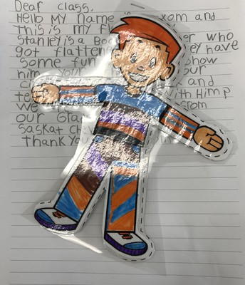 2B Writing using Flat Stanley...stay tuned to where he travels!
