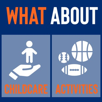 childcare and activities graphic