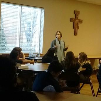 Our visiting author Stephanie Engelman. 6th grade