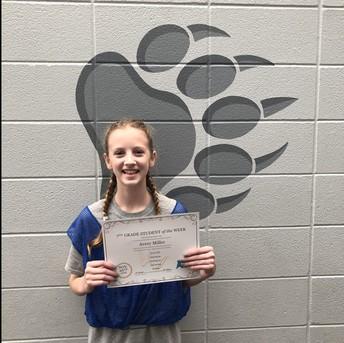 7th Grade - Avery Miller