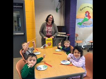 Mrs. Schlawin and Grant's PK and Begindergarten Students