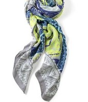 Union Square Scarf, multi-geo print- $59