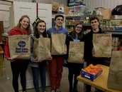 National Honor Society Serves Operation Give Back
