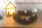 The 2.9 classroom Prayer Table and Advent Wreath