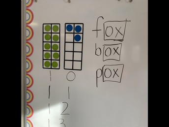 Math (10-frames) and literacy (sound families) in FDK