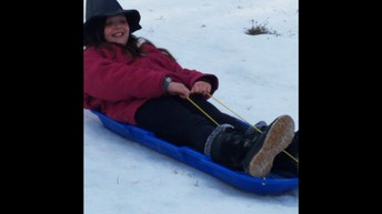 A little sledding fun!