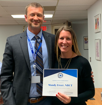 Honoring National Board Certified Teacher