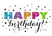 Happy Birthday to the following Union Mine Students: