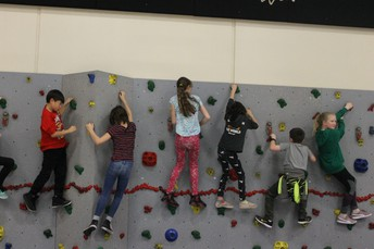Rockin out on the Rock Wall!