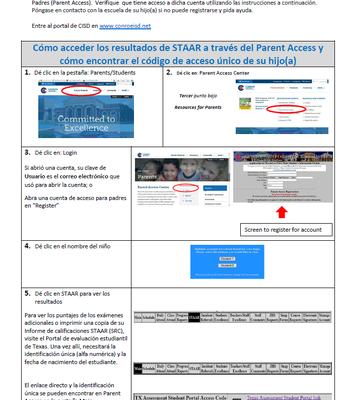 Como Acceder resultados de STAAR