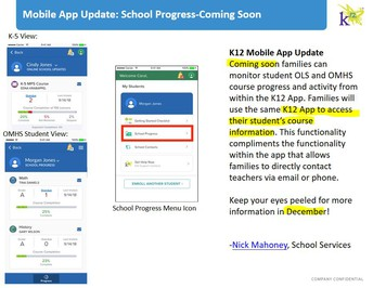 K12 app soon to allow access to student course info