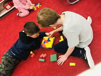 Math centers in grade 2 to support our understanding of spatial reasoning
