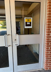 Our IN door is on the WEST side