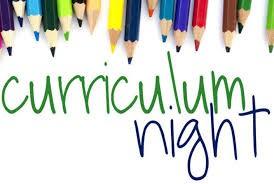 Curriculum Night is Thursday, September 12