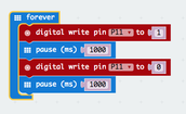 Working with digital pins on the microbit