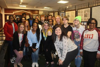 DHS Students Get Personal Tour with Mike Glenn's Exhibit at the Decatur Library
