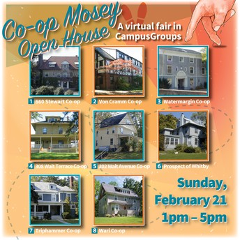 Co-op Mosey Open House  Sunday, Feb 21st 1:00 – 5:00pm ET