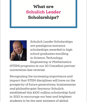 What are Schulich Leader Scholarships?